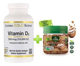 Vitamina D3 10,000ui 360 Capsulas Importado Cod. 264