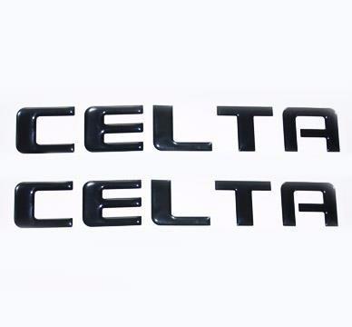 Adesivos Carro Chevrolet Celta Resinado Alto Relevo 20,9x3cm