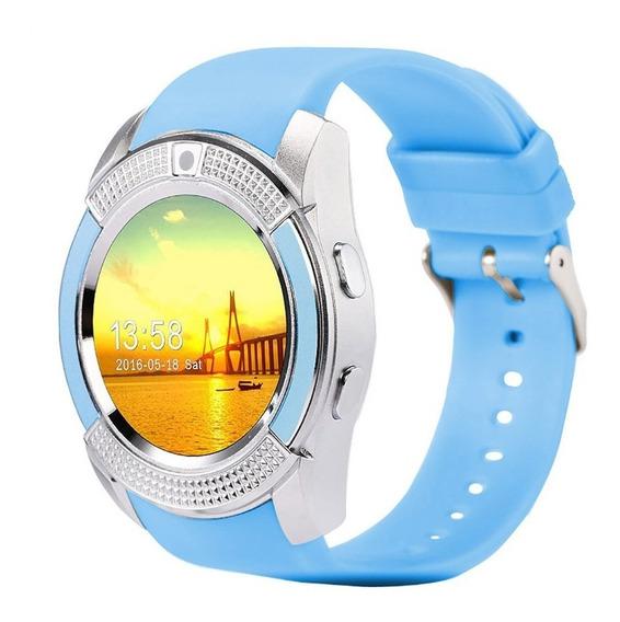 Smart Watch V8 Circular Camara Reloj Inteligente Sim