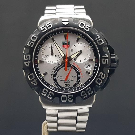 Tag Heuer Formula 1 Chronograph Mostrador Branco
