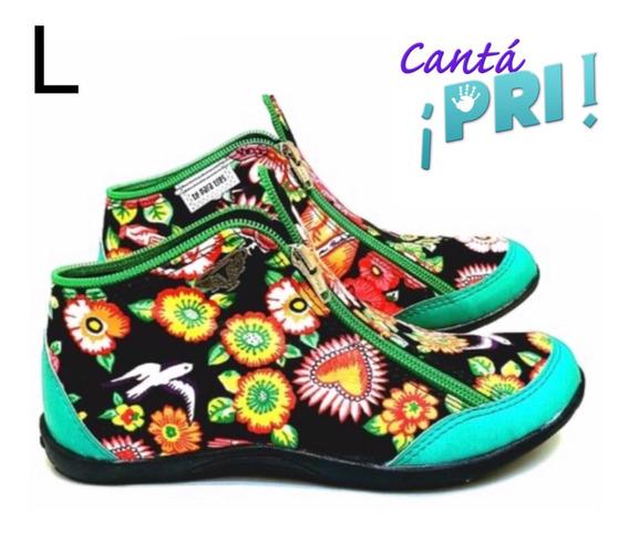 Zapatillas Tipo Botita De Diseño Cordon Less Originales