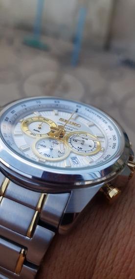 Relógio Seiko Cronograf Série Ouro Impecável