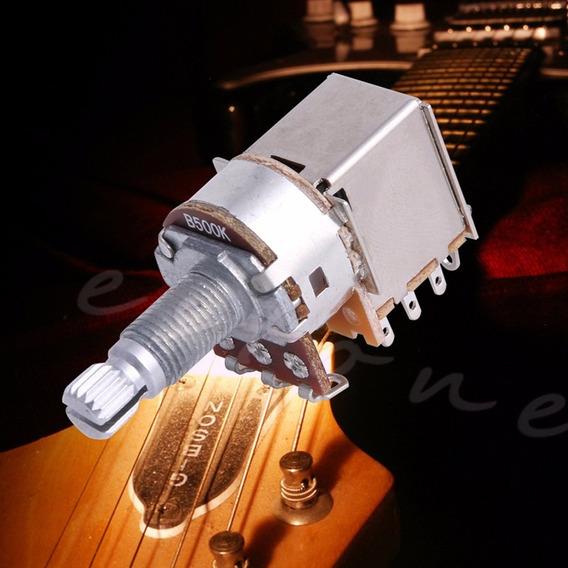 Potenciômetro Push Pull B500k Haste 18mm P/ Guitarra E Baixo