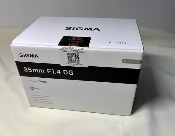 Lente Sigma 35mm F1.4 Dg Hsm Art Para Sony Emount Pronto