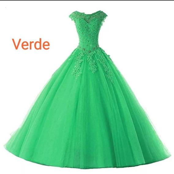 Vestido De Xv Años / Boda Economico Varios Colores Y Tallas