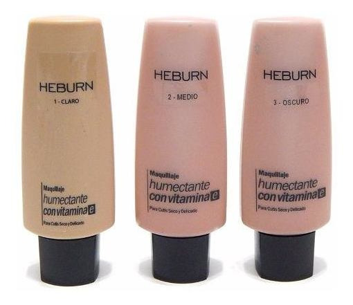 Heburn Bb Cream Humectante 140 Base Maquillaje Vitamina E
