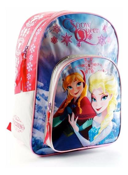 Mochila Espalda Frozen 16p Escolar Original Terracota Oferta