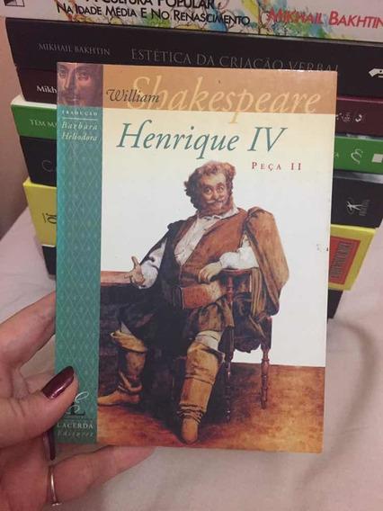 Livro Henrique Iv Peça Ii William Shakespeare