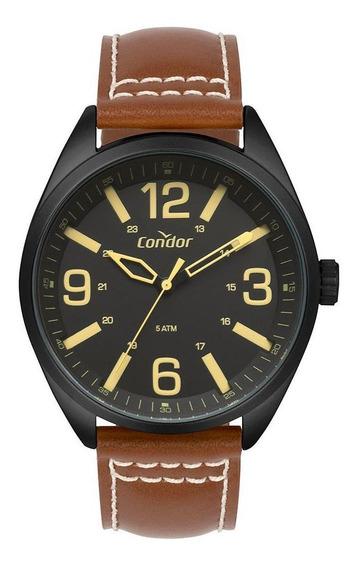 Relógio Condor Masculino Couro Preto Co2035mpe/2p