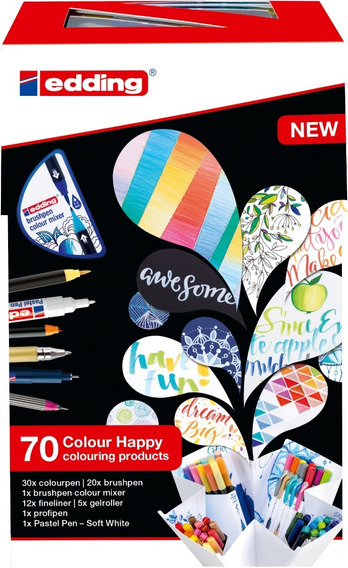 Set Marcadores Edding Colour Happy Big Box 69+1
