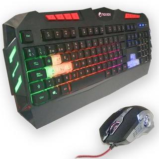 Combo Gamer Pro Teclado Y Mouse Rgb 9 Efectos Naxido K-806