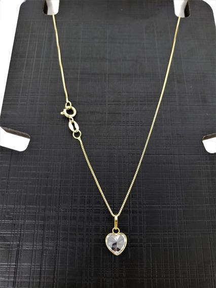 Cordão Em Ouro 18k 45cm Veneziana C Ping
