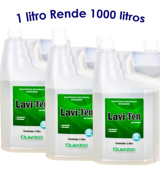 Lavi-fen Desinfetante De Alto Rendimento 3 Litros Lavizoo