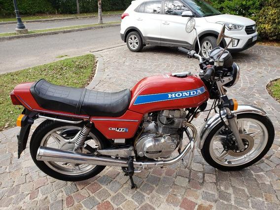 Honda Cb400n 1982 Rodada En 1990 Impecable Vtv Vigente