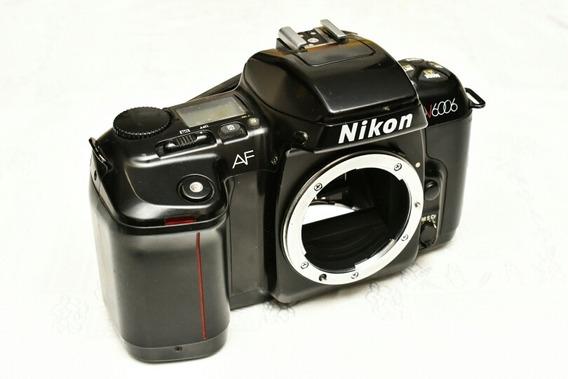 Câmera Nikon N6006 Analógica Para Conserto Ou Decoração