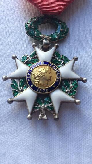 Condecoracion Francesa, Legion De Honor 1870