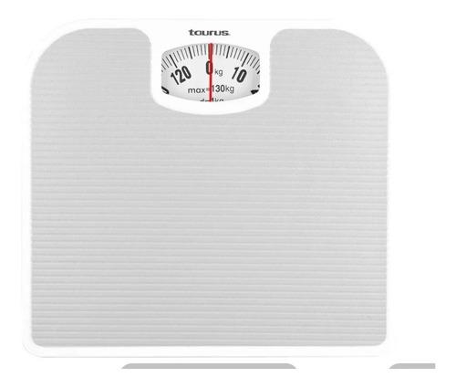 Bascula De Baño Taurus Obelix Analoga 130kg Blanca