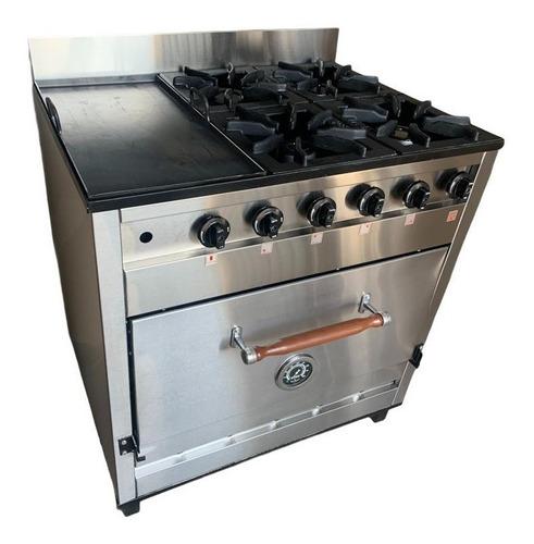 Cocina Industrial Pevi 4h + Plancha C/ Valvula 85cm. Ahora12