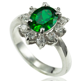 Anel De Formatura Nutrição Prata 925k Verde Esmeralda