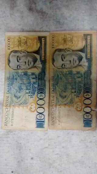 Cédula De 100.000 Cruzeiros - Notas Antigas Cédulas
