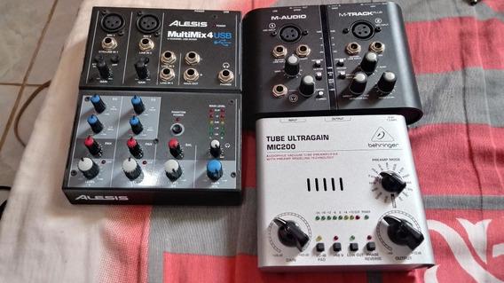 Kit Interface Gravação De Audio Profissional