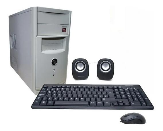 Pc De Escritorio Computadora Amd A4 4gb Ssd Local - Cuotas