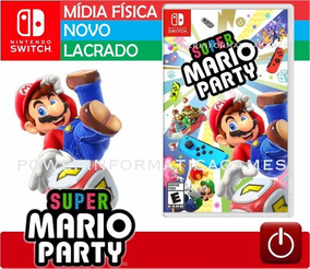 Super Mario Party Jogo Nintendo Switch Lacrado Mídia Física