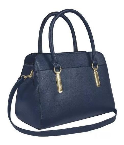 Bolsa Bolso Dama Mujer Formal Tipo Handheld Azul Marino