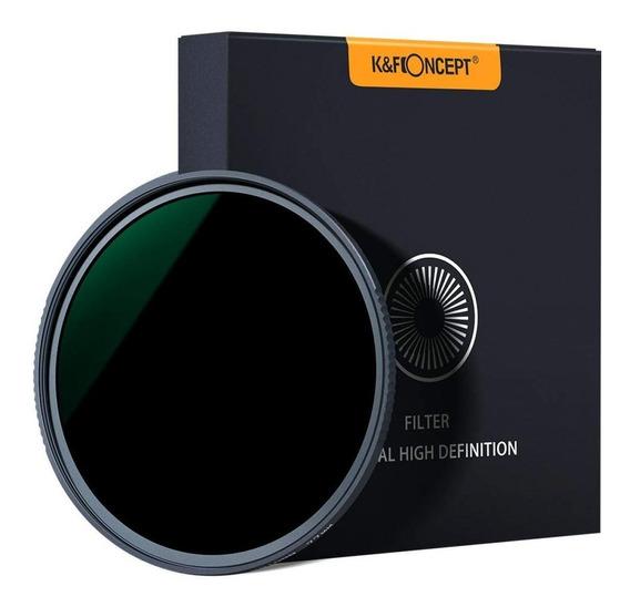Filtro K&f Nd1000 Compatível P/ Todas Lentes C/ Boca De 77mm