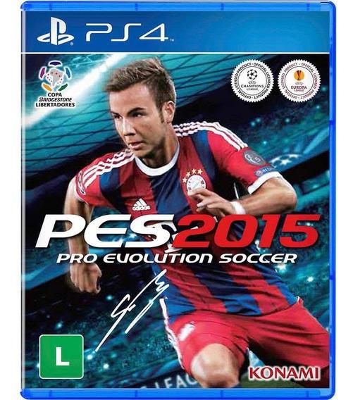 Pes Evolution Soccer 2015 Para Ps4 - Original, Mídia Física