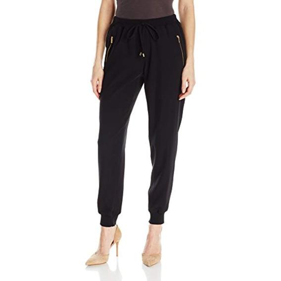 Calvin Klein Mujeres Jogger Pant, Negro, L