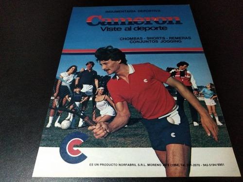 (pb418) Publicidad Clipping Indumentaria Deportiva Cameron