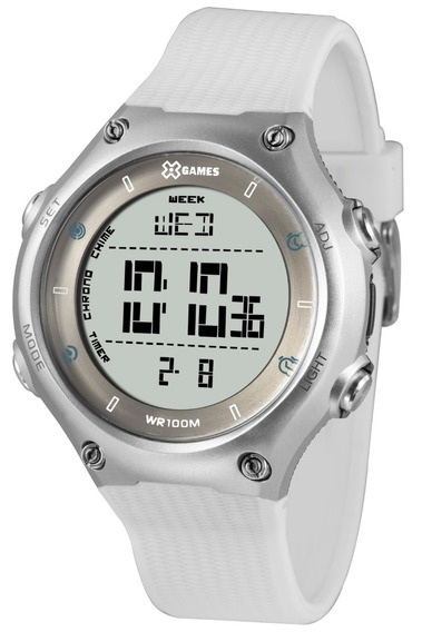 Relógio X-games Masculino Digital Xmppd565 Prata Branco