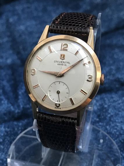 Relógio Nível Omega Ouro Maciço 18k Universal Guilhochê Luxo