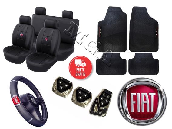 Capa Banco Tapete Pedal E Volante - Fiat Stilo Tipo Brava
