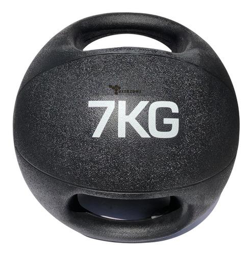 Imagen 1 de 2 de Pelota Balón Medicinal Con Asa Para Crossfit 7 Kg Profesiona