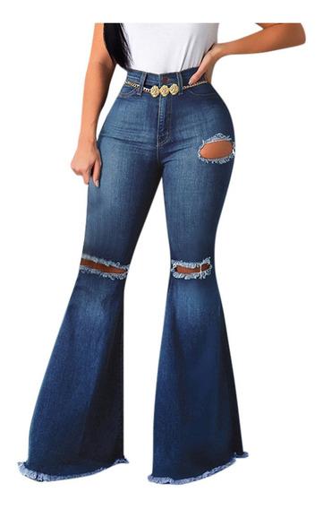 Pantalones Vaqueros Mujer Acampanados Mercadolibre Com Mx