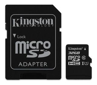 Tarjeta de memoria Kingston SDC10G2 con adaptador SD 32GB