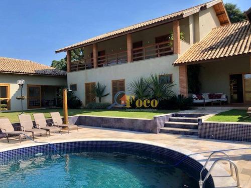 Chácara Com 5 Dormitórios À Venda, 5300 M² Por R$ 2.300.000,00 - Condomínio Itaembu - Itatiba/sp - Ch0182