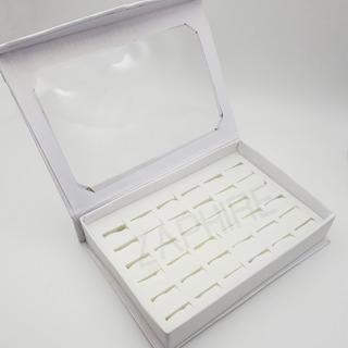 Caja Exhibidora Para 36 Anillos Carton Con Cierre Magnetico
