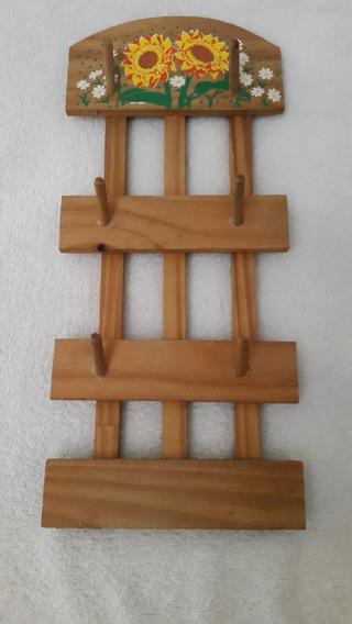 Porta Tazas De Madera Para 6 Unidades
