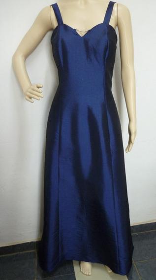 A Exclusiva Brechó Online. Vestido Azul Marinho Com Strass