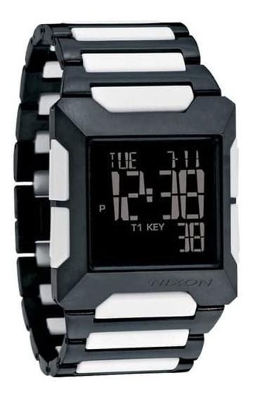 Relógio Nixon Block Ss Black White - Original Promoção