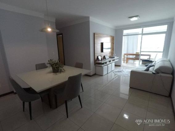 Apartamento Com 3 Dormitórios À Venda, 116 M² Por R$ 530.000,00 - Praia Do Suá - Vitória/es - Ap0700