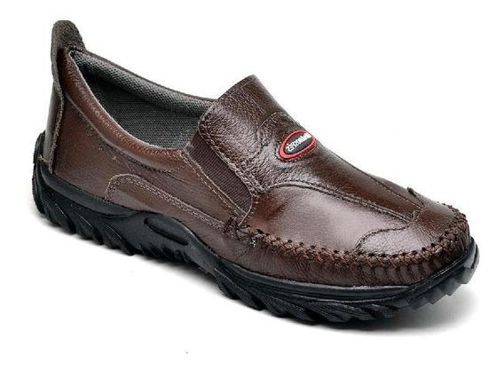 Sapato Mocassim Masculino Couro Macio Resistente Conforto