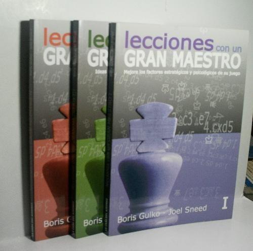 Pack 3 Libros Lecciones Con Un Gran Maestro - Boris Gulko