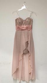 Vestido De Fiesta Nuevo Largo Rosa Strappless ¡envío Gratis!