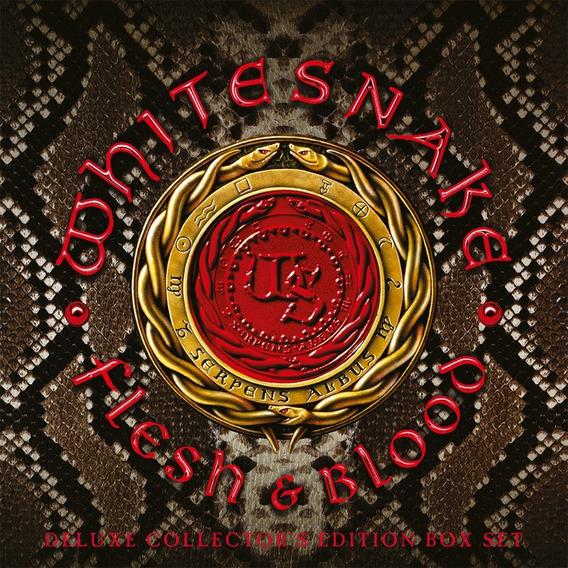 Vinilo Whitesnake Flesh & Blood Importado Box Set 2lp+cd+dvd