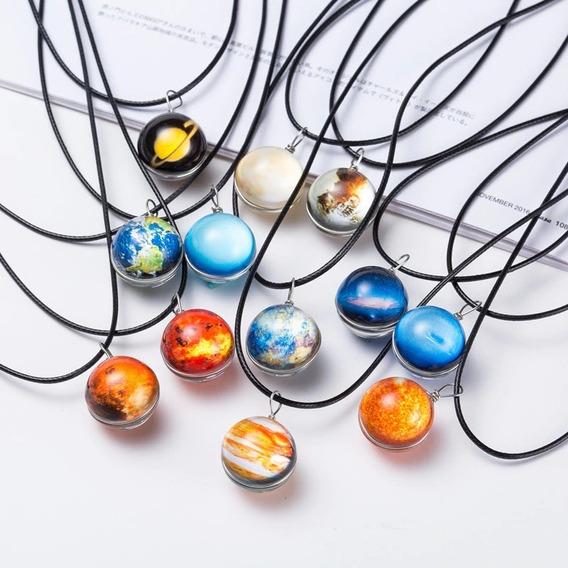 Colar Galaxia Planetas Solar Universo Estrela Moda Fashion