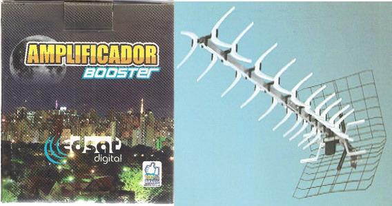Kit Antena Uhf Nova 2 Lb 44 Edsat + Booster Lb 40db
